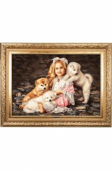 دختر سه توله سگ