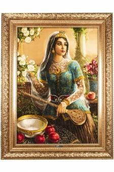 دختر قاجار و انار
