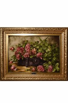 منغل و گل رز