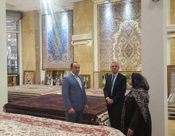 حضور سفير اسپانيا در گالرى فرش عظيم زاده